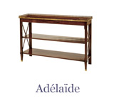 The Adélaïde console table combines elegance and practicality