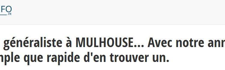 Docteur-info.fr vous permet d'obtenir un RDV rapide avec un médecin généraliste à Mulhouse